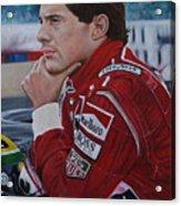 Ayrton Senna Acrylic Print