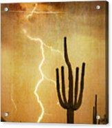 Az Saguaro Lightning Storm V Acrylic Print