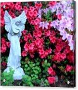 Azalea Garden Angel Acrylic Print