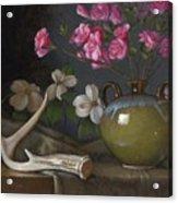 Azaleas And Dogwood Acrylic Print by Timothy Jones