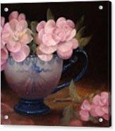 Azaleas In A Cup Acrylic Print by Loretta Fasan