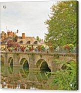 Azay Le Rideau Bridge, Boys Fishing Acrylic Print
