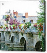 Azay Le Rideau Bridge, Loire, France Acrylic Print