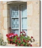 Azay Le Rideau Bridge, Window, Lace Acrylic Print