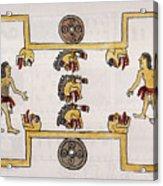 Aztec Ball Game Acrylic Print