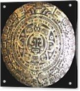 Aztec Calendar Acrylic Print