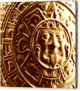 Aztec Gold Photograph Acrylic Print