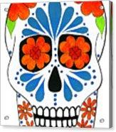 Aztec Inspired Sugarskull Acrylic Print
