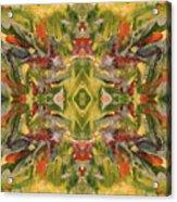 Aztec Kaleidoscope - Pattern 001 - Desert Acrylic Print