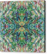 Aztec Kaleidoscope - Pattern 018 - Earth Acrylic Print
