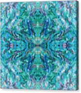 Aztec Kaleidoscope - Pattern 018 - Ocean Acrylic Print