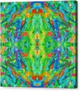 Aztec Kaleidoscope - Pattern 025 Acrylic Print