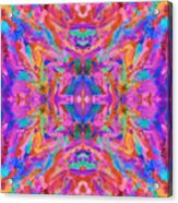 Aztec Kaleidoscope - Pattern 032 Acrylic Print