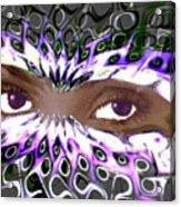 Aztec Mask Acrylic Print