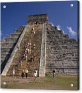Aztec Pyramid Near Mexico City Acrylic Print