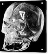 Aztec Rock Crystal Skull Acrylic Print
