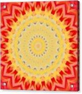 Aztec Sunburst Acrylic Print