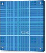 Azure Blue Abstract Acrylic Print