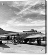 B-17  Black  Acrylic Print