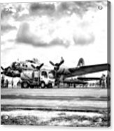 B-17 Bomber Fueling Up In Hdr Acrylic Print