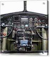 B-17 Cockpit Acrylic Print