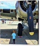 B-17 Engine Aircraft Wwii Acrylic Print
