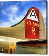 B-17 Tail Wwii Acrylic Print