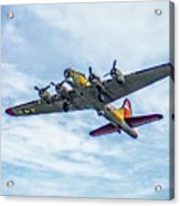 B-17g Flying Fortress In Flight  Acrylic Print