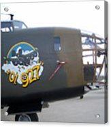 B-24 Nose Art Acrylic Print