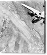 B-25 Bomber Over Germany Acrylic Print