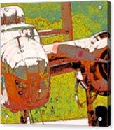 B-25 Red B Acrylic Print