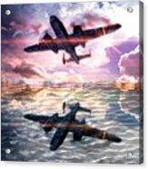 B-25b Usaaf Acrylic Print by Aaron Berg