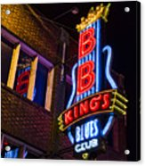 B B Kings On Beale Street Acrylic Print
