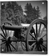 B W Canon Gettysburg Acrylic Print