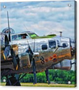 B17 Bomber Side View Acrylic Print