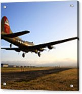 B17 Flying Fortress Lands At Livermore Klvk Acrylic Print