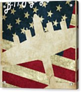 B17 Flying Fortress Vintage Acrylic Print
