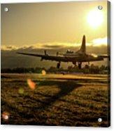 B17 Landing At Livermore Acrylic Print