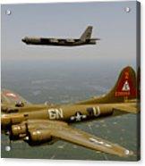 B17g And B52h In Flight Acrylic Print