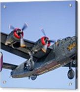 B24 Liberator Landing At Livermore Acrylic Print