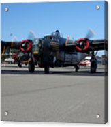 B24 Liberator Start-up At Livermore Klvk Memorial Day Acrylic Print