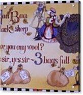 Baa Baa Black Sheep Acrylic Print