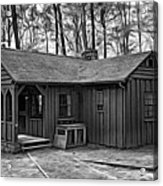 Babcock State Park Cabin - Paint Bw Acrylic Print