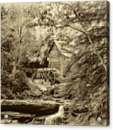 Babcock State Park Wv - Sepia Acrylic Print