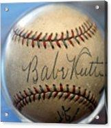 Babe Ruth Baseball. Acrylic Print