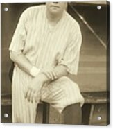 Babe Ruth Posing Acrylic Print by Padre Art