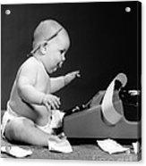 Baby Accountant Acrylic Print