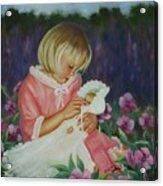 Baby  Doll Acrylic Print by Joni McPherson