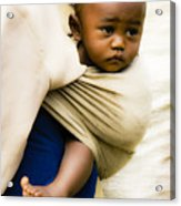 Baby In A Sling Acrylic Print