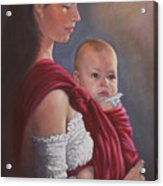 Baby In Rebozo Acrylic Print